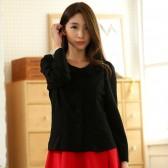 9742黑色 韩版秋装单排扣百搭短外套优雅围领花长袖大码上衣小外套
