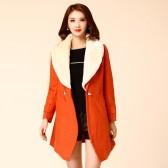 8805款 特价  一口价 冬装新款欧美大牌韩版定制显瘦单扣毛领呢大衣