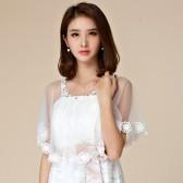 9668白色  新娘结婚婚纱礼服披肩蕾丝大码防晒小外套姐妹裙搭衫