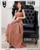 9692款 绯红色 时尚优雅闪亮瘦腰吊带大牌长款晚礼服大码宴会表演裙