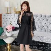 9984款 黑色 优雅名媛连衣裙小香风遮肩礼服裙