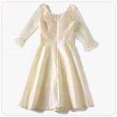 9981款 香槟色 新款洋装晚礼服聚会毕业季主持中袖A字中裙