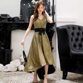 9691款 金色 公主名媛高雅气质燕尾晚礼服显瘦姐妹礼服裙