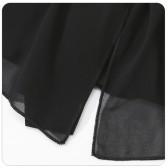 7700黑色  荷叶百搭小外套雪纺披肩绑带上衣防晒大码